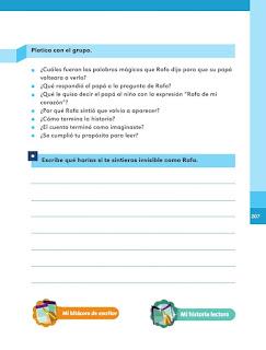 Apoyo Primaria Español 1er grado Bimestre 5 lección 15 El final del cuento