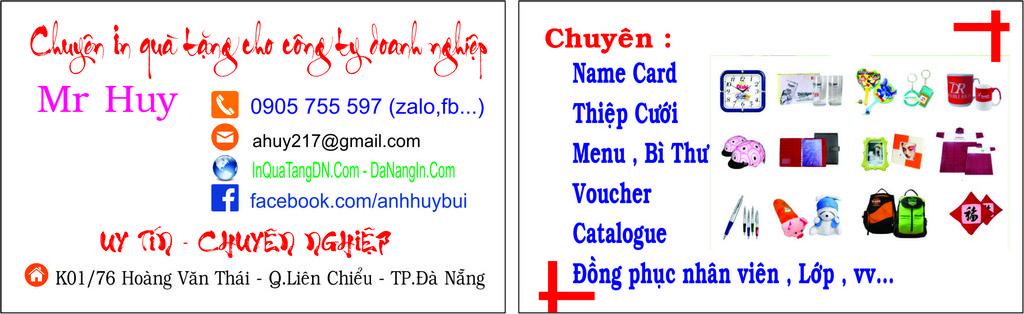 news.danangin.vn - In Nhãn Dán Handmade,IN NAME CARD LẤY GẤP 0905 755 597 Mr Huy,LÀM MENU