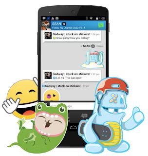 BBM Sickers Fitur Baru BBM Android