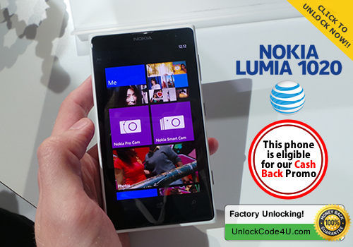 Factory Unlock Code for Lumia 1020 from At&T