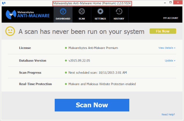 Download Malwarebytes Anti-Malware Premium 2.2.0.1024 LifeTime Key