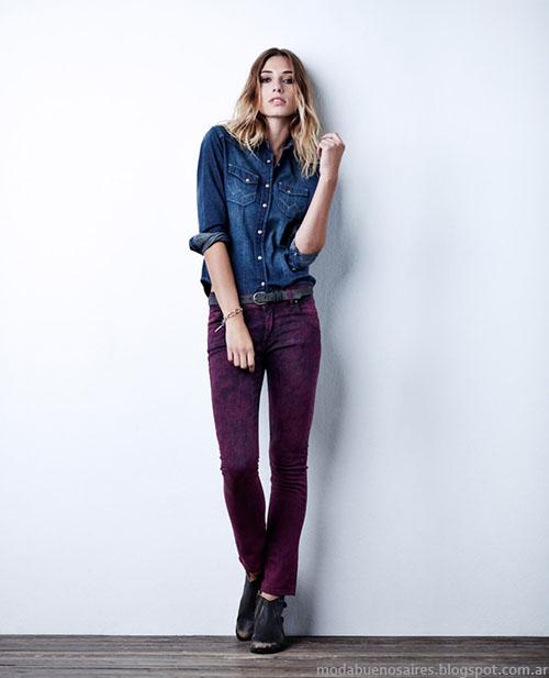 Camisas de jeans invierno 2015 moda invierno 2015 Wrangler.