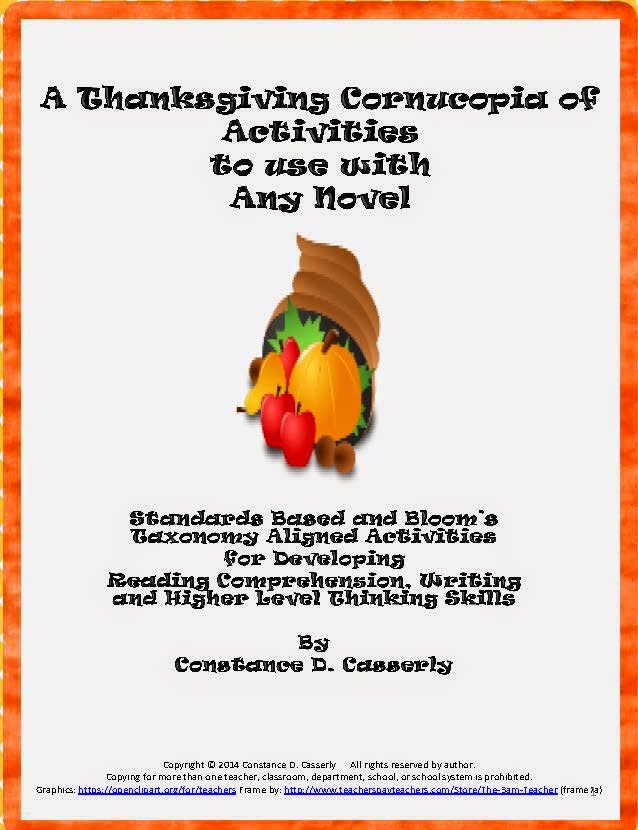Comprehension, Writing and Thinking- A Thanksgiving Cornucopia of Activities