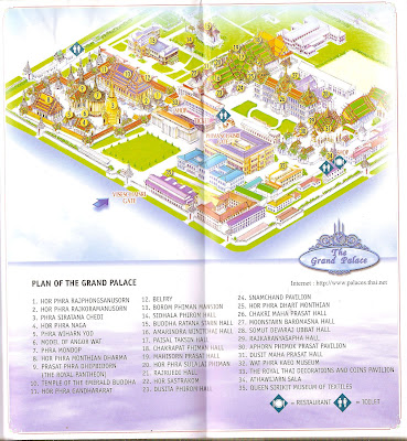 Plano carte Royal Palace à Bangkok