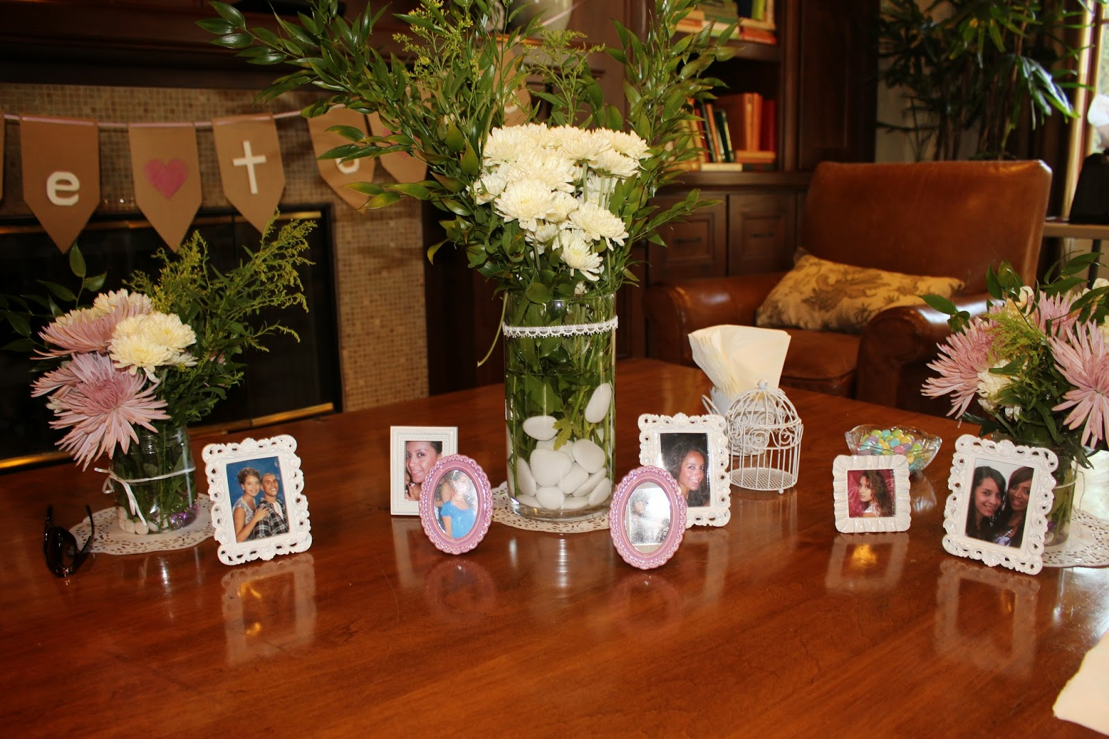 Diy bridal shower centerpieces decorations and food