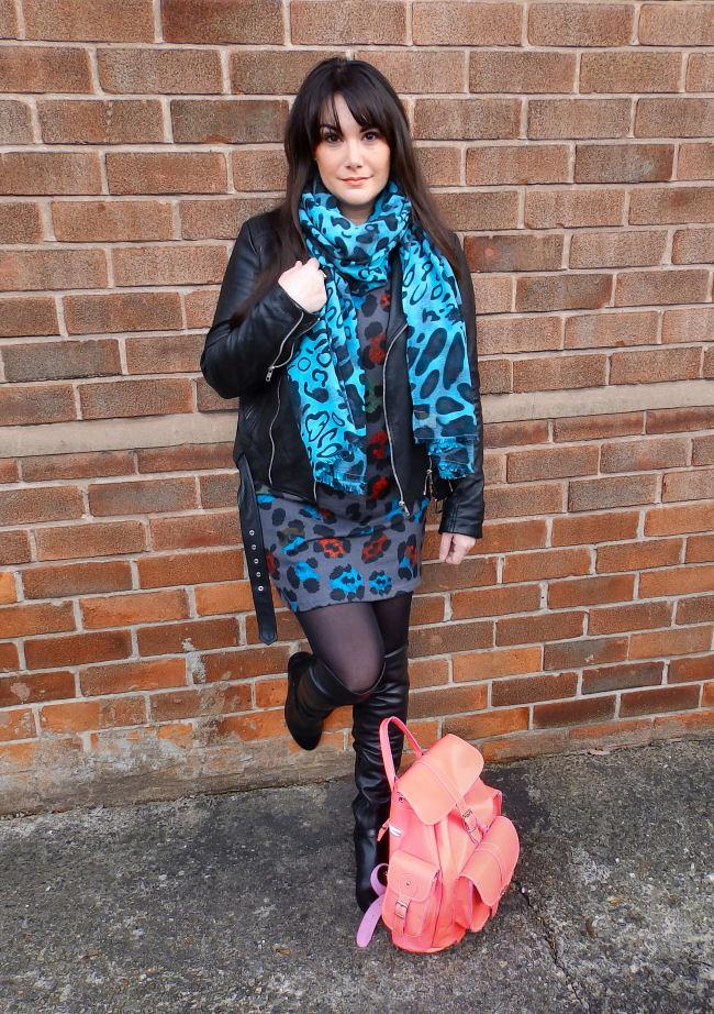 Madam Rage Grey Longline Jumper Dress Becksondergaard Grafea bag Over knee boots Liverpool blogger The Style Rawr