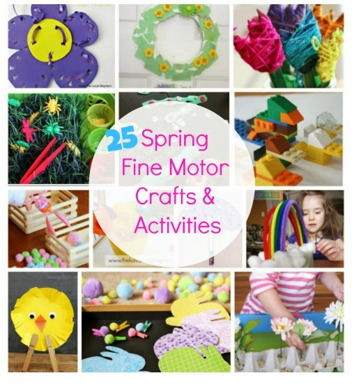 spring themed fine motor activities to keep your kids busy and learning