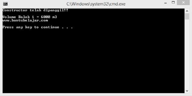 Class Constructor Pada C++