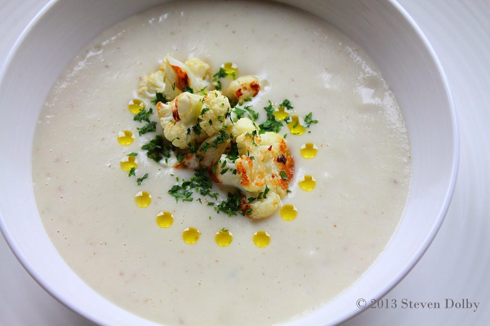 Creamy Cauliflower Soup with Caramelized Cauliflower by Steven Dolby