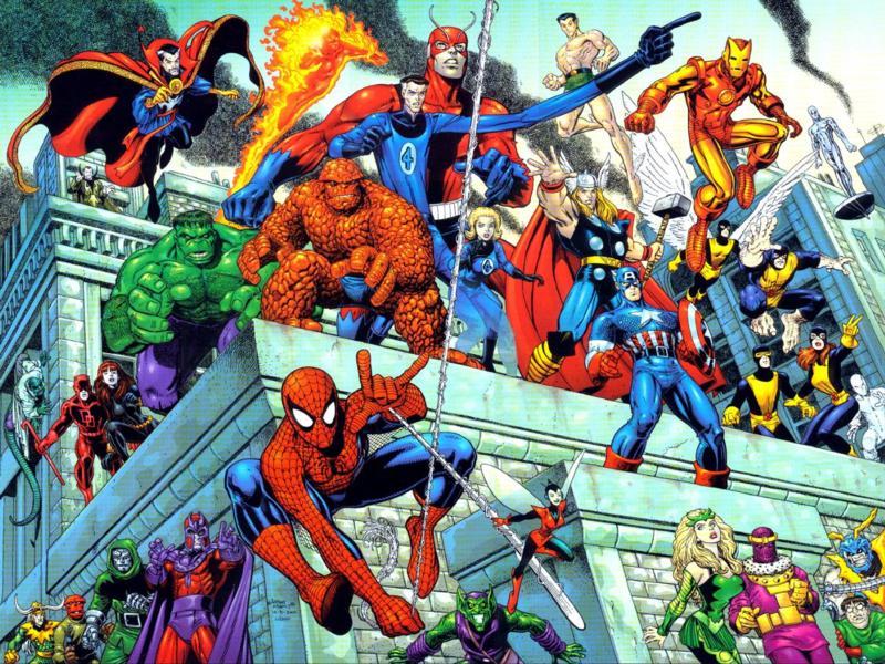 heroes y villanos de marvel y dc: