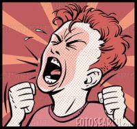 grito raiva trabalho detestável
