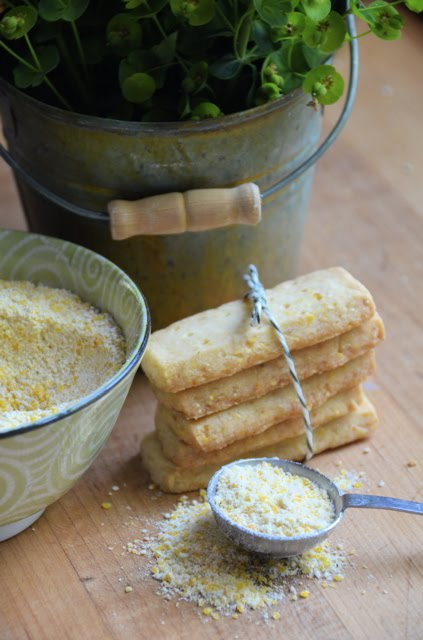Citrus-Cornmeal Shortbread