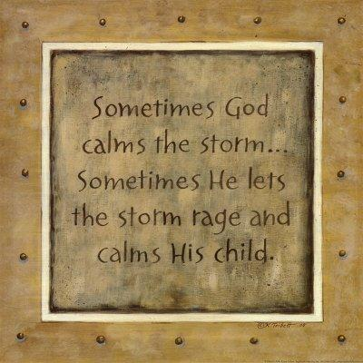 LORD, PLEASE CALM WHAT SEEMS LIKE A STORM TO ME