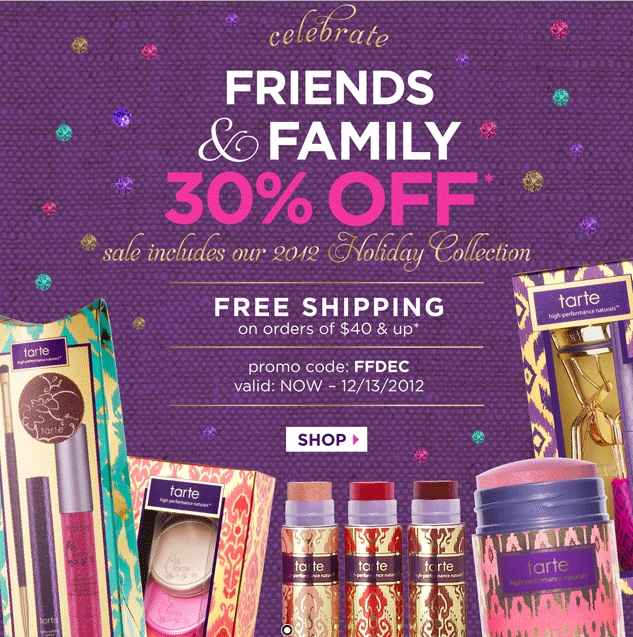 Tarte coupon code