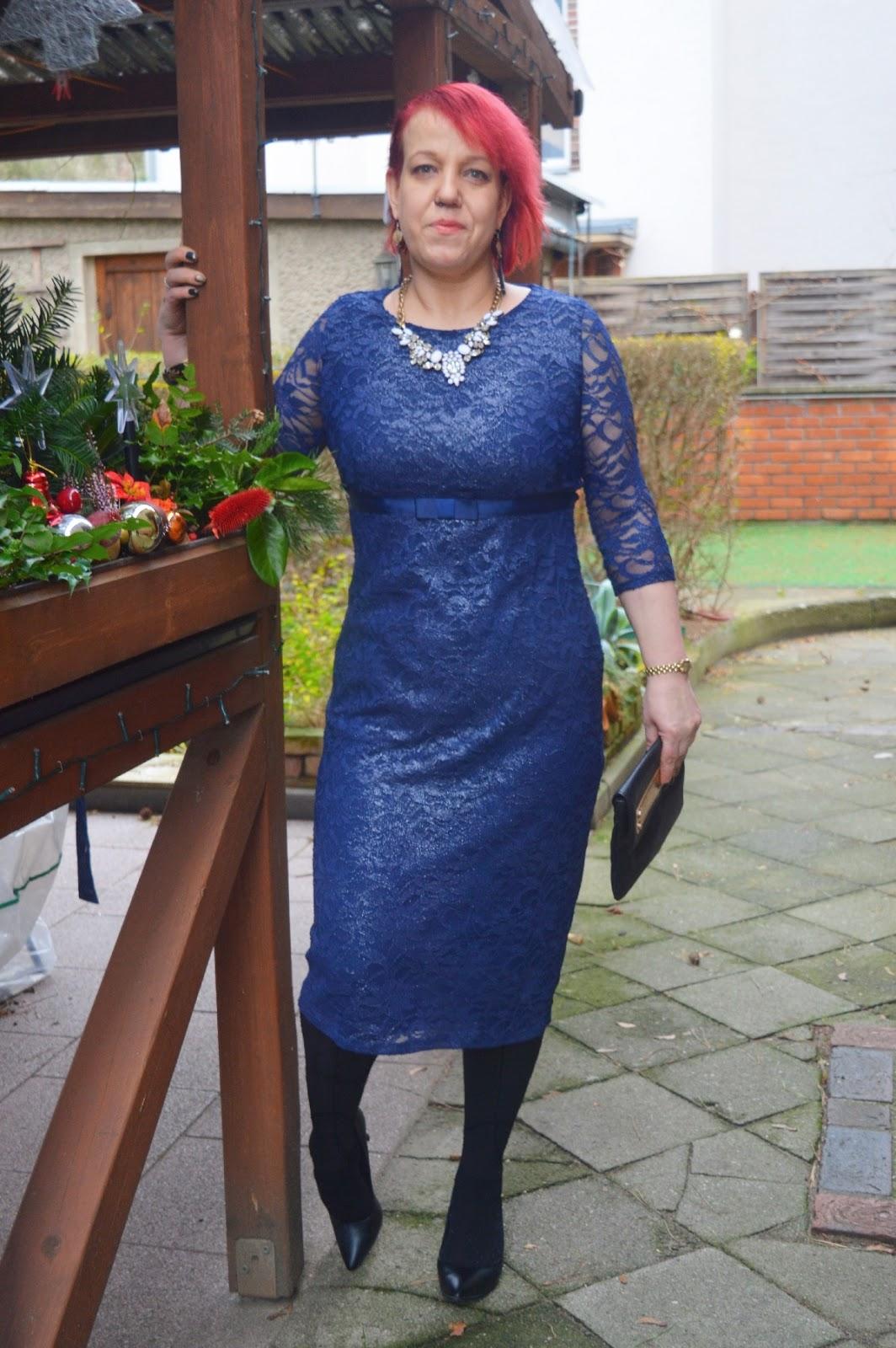 2 Dresses for Christmas - Blue Asos Maternity Dress