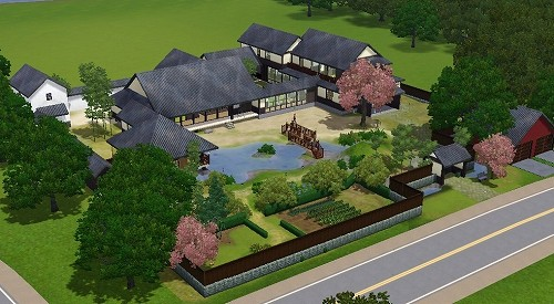 Traditional Japanese Mansion For Sims