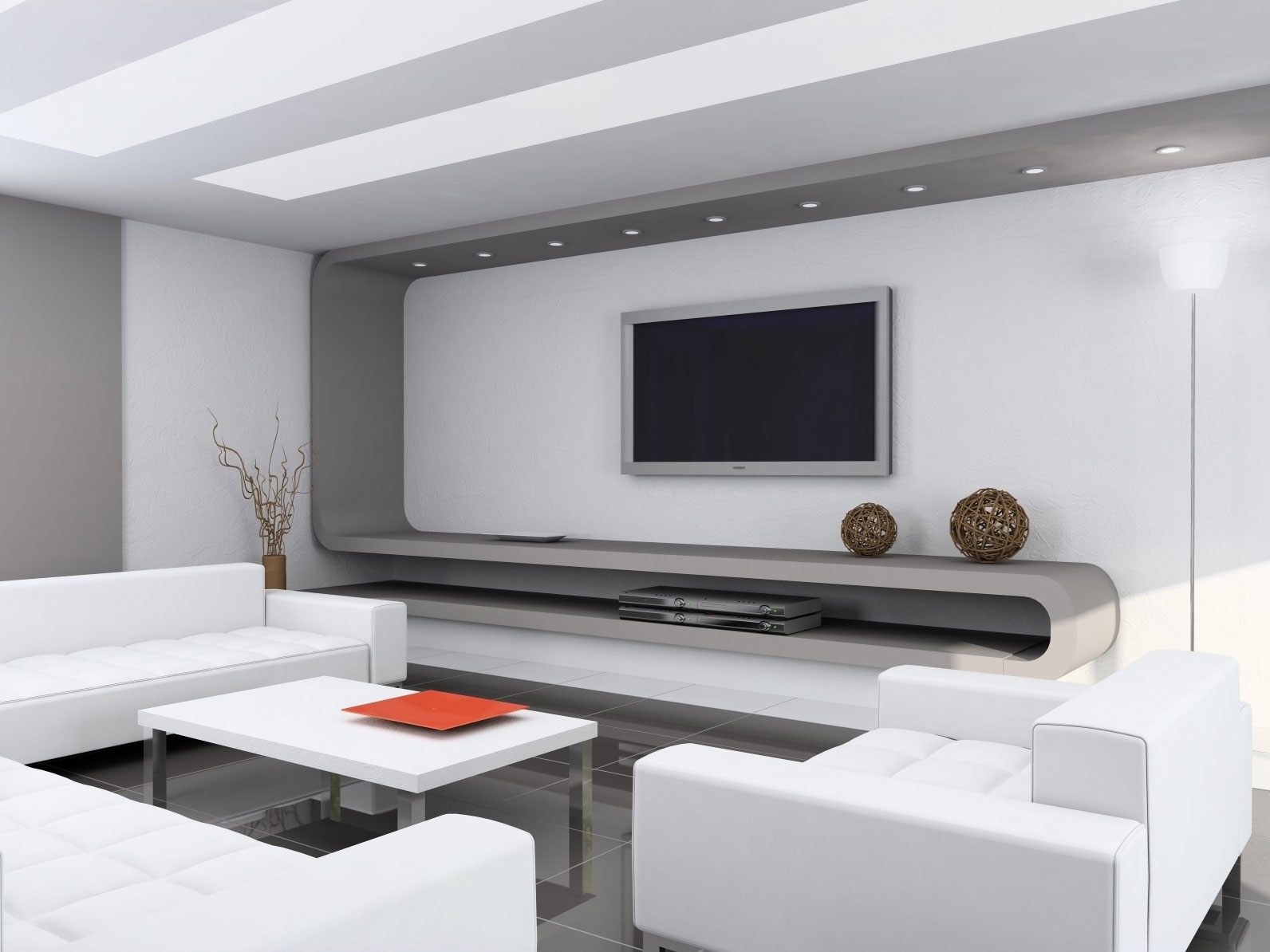 Modern minimalist living room ideas home design for Modern home living room