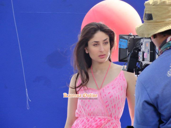 1 - Kareena Kapoor in Pink Dress on the sets of an ad