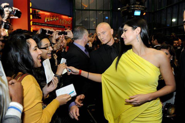 Katrina Kaif in Yellow one shoulder dress1 - Super Hot Katrina Kaif Hot Pics in Yellow & Glittering Dress