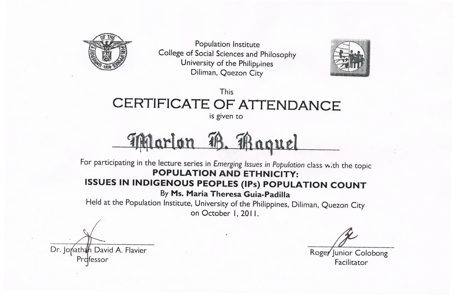 attendance certificates printable – Attendance Certificates Printable