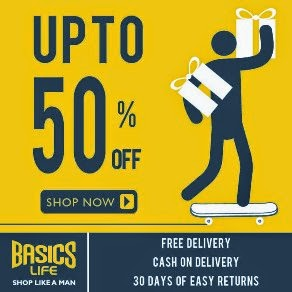 BasicsLife:  Flat upto 50% Off on Everything (Valid across the entire site on All Products – No Minimum Purchase Condition) Limited Period Offer
