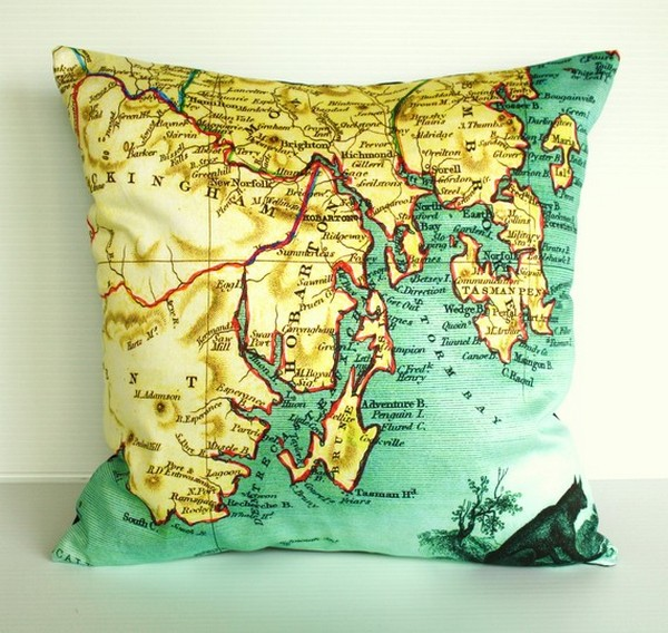 Creative Design-Map On Cushions By My Bearded Pigeon