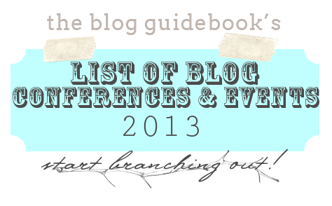 Updated list of blogging conference and events 