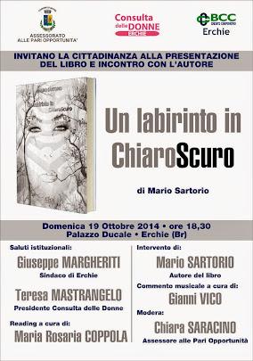 """""""un labirinto in chiaroscuro"""" di Mario Sartorio"""
