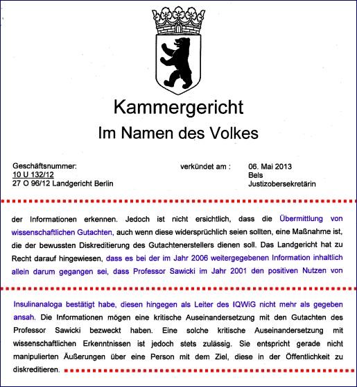 Kammergericht Berlin, 06.05.2013