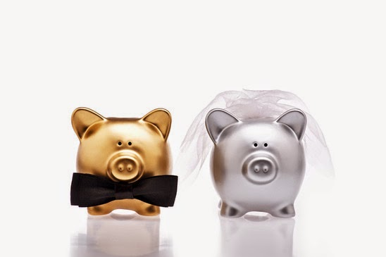 Groom and Bride Piggy Banks
