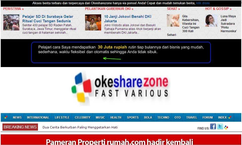 Berita dan Informasi Online Indonesia | Okesharezone