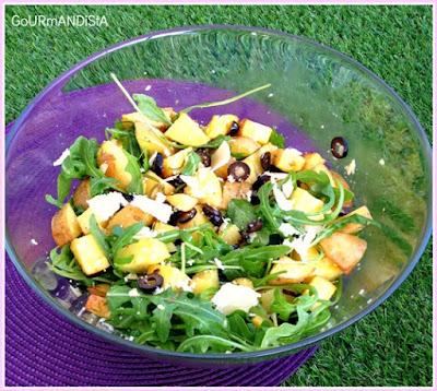 image-Salade de pommes de terre, olives et parmesan