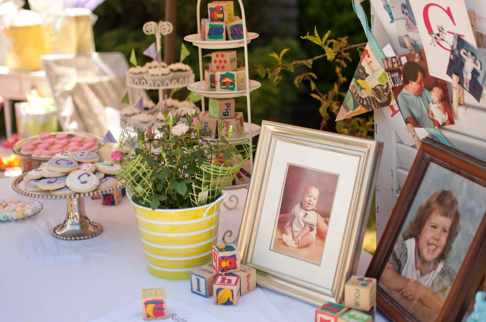 domestic fashionista backyard garden baby shower