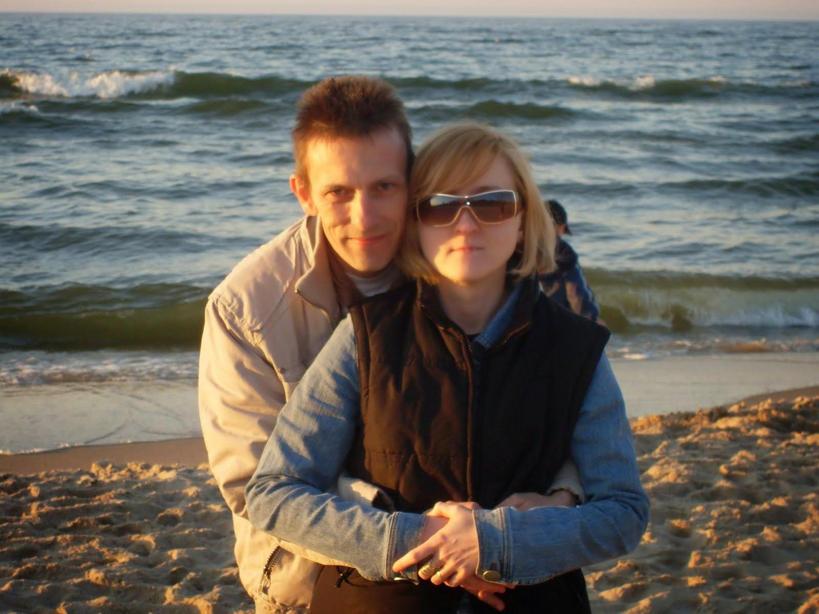 z mężem nad Bałtykiem