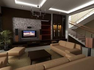desain interior ruang keluarga minimalis modif rumah bagus