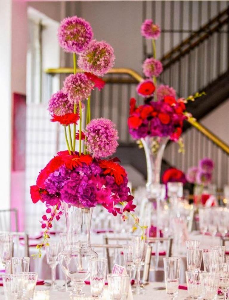 wedding flower centerpieces using pink wedding flowers wedding stuff ideas. Black Bedroom Furniture Sets. Home Design Ideas