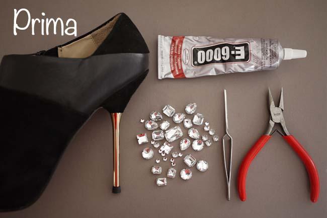 Come applicare strass su scarpe