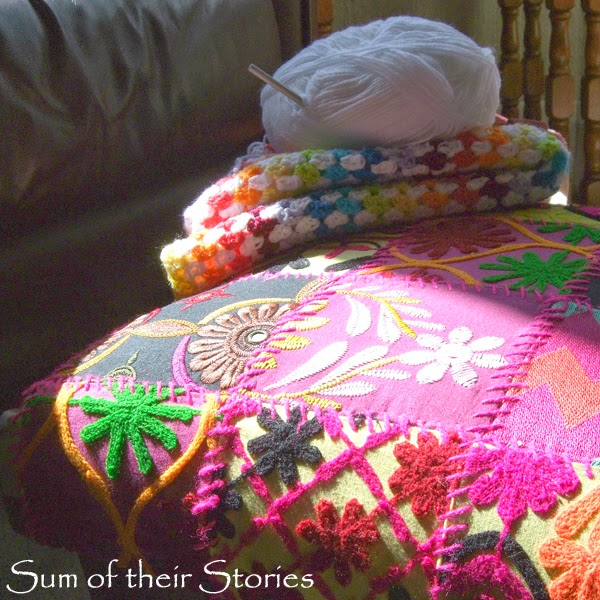 my crochet and footstool for silent sunday