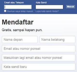 facebook bikin akun baru