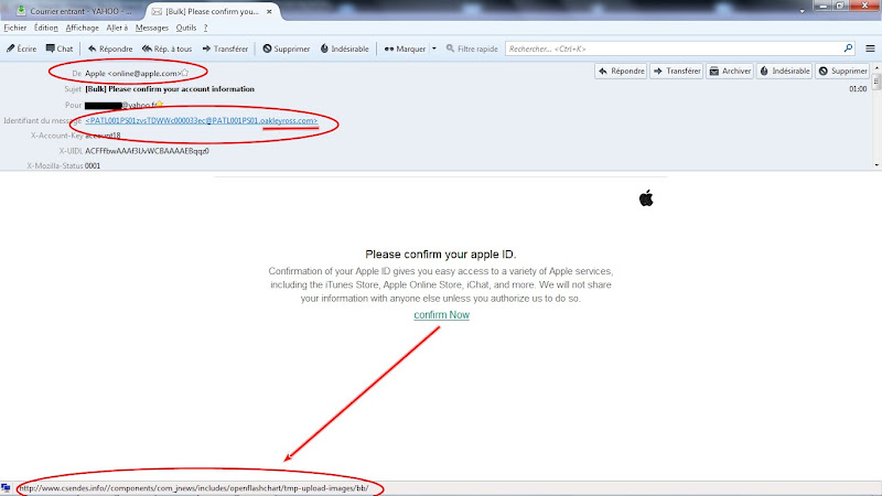 ALERTE PHISHING Apple