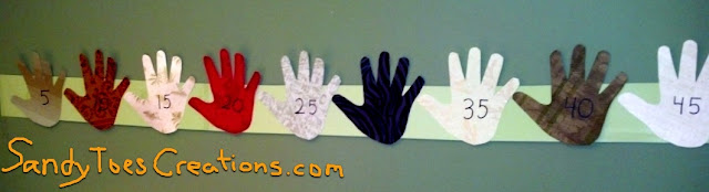 learning multiples cut out fingers hand print art project fun activity