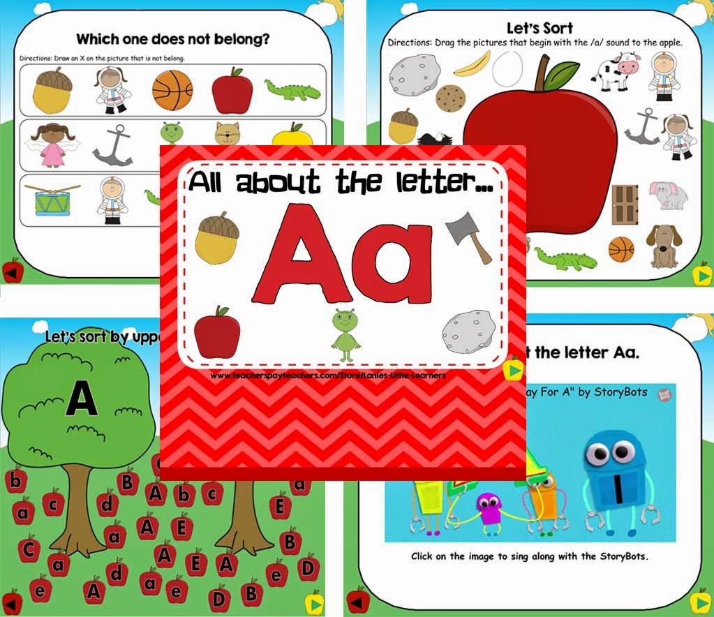 All About the Letter A (SMARTBoard Activities)