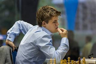 Echecs à Sao Paulo : le numéro un norvégien Magnus Carlsen - photo Albert Silver
