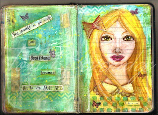 Your Best Friend Art Journal Page Scan by Tori Beveridge