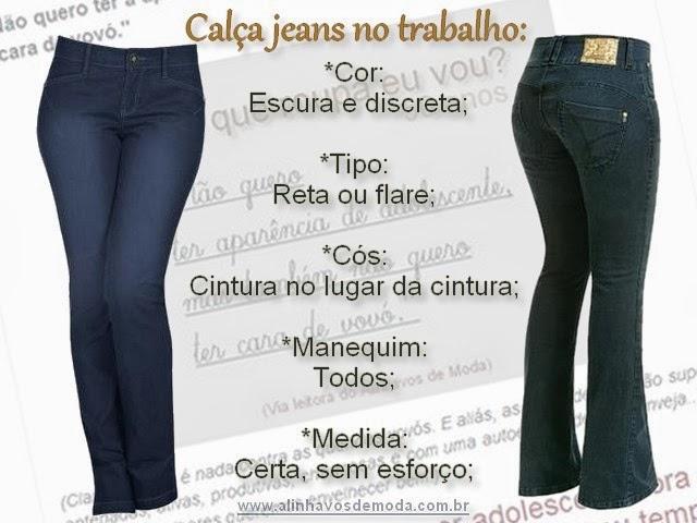 Calça jeans reta ou flare