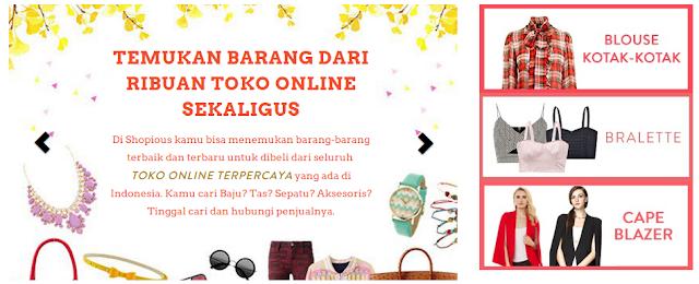 Temukan barang dari berbagai rubuan toko online sekaligus