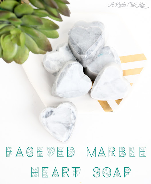 Faceted Marble Heart Soap DIY