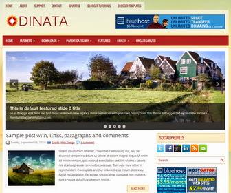 Dinata Blogger Template
