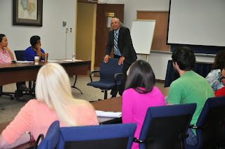 Graduate students interact with Beto Lecture speakers, such as Dr. Marvin Krohn