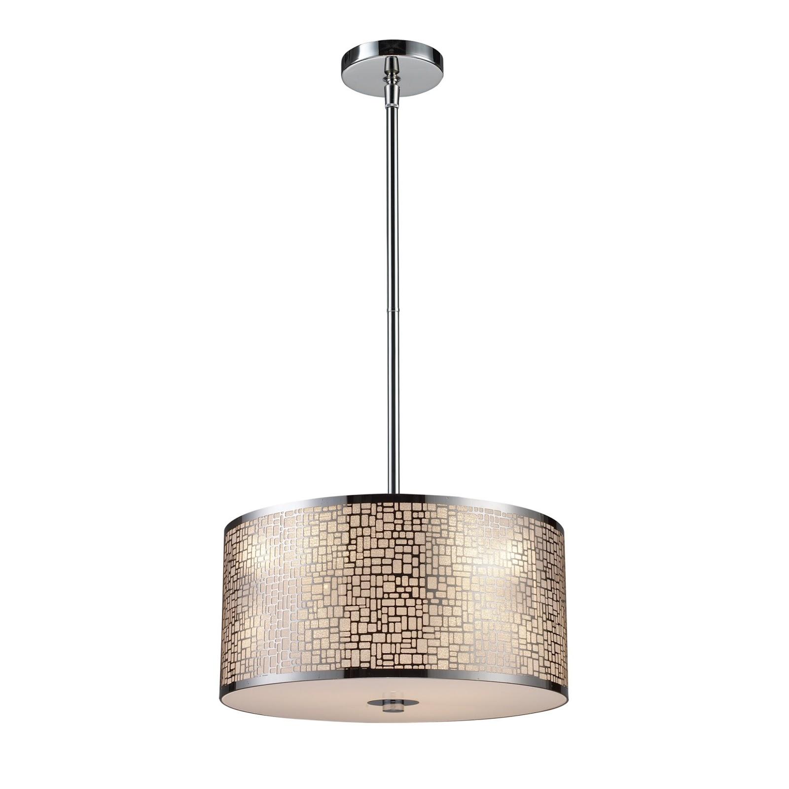 Elk Lighting Medina: Stainless Steel Pendant Light